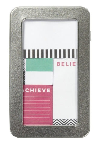 C.R. Gibson 5-Piece Sticky Notes & Page Flags Set - Dream Believe Achieve