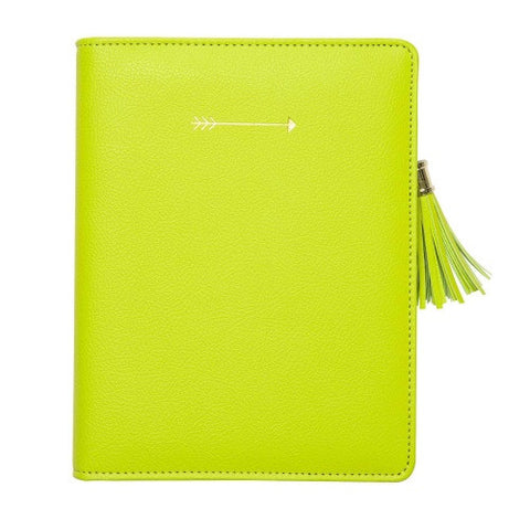 C.R. Gibson Zipper Leatherette Refillable Journal- Arrow