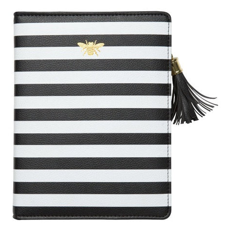 C.R. Gibson Zipper Leatherette Refillable Journal- Bee