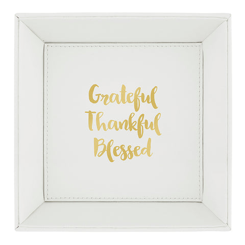 Heartfelt Coin Tray - Grateful, Thankful, Blessed