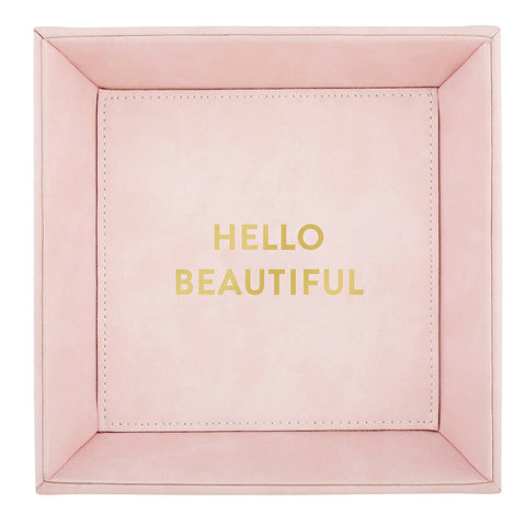 Heartfelt Pink Coin Tray - Hello Beautiful