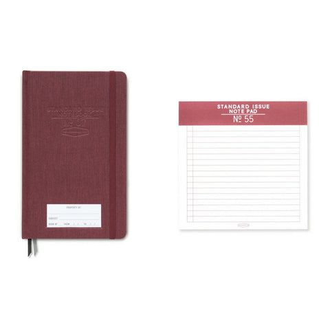 Designworks Set Standard Issue No.55 Square Notepad and Notebook No.7 - Burgundy