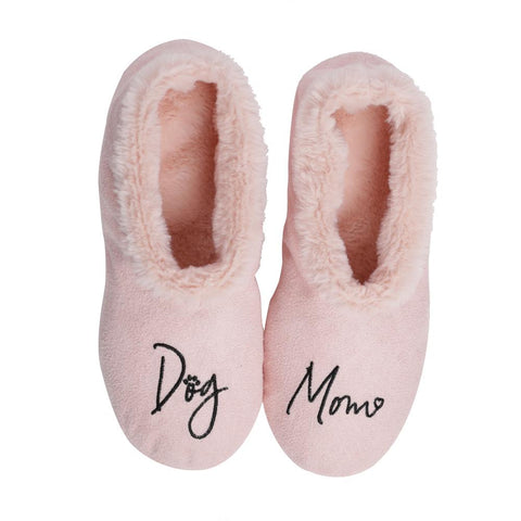 "Faceplant Dreams Slipper Footsies - ""Dog Mom"""