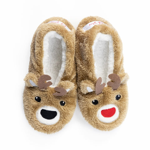 "Faceplant Dreams Holiday Slipper Footsies - ""Oh Deer"""