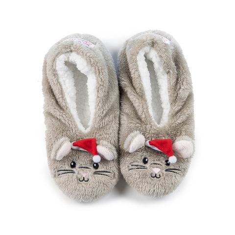 "Faceplant Dreams Holiday Mouse Slipper Footsies - ""'Twas the night before Christmas"""