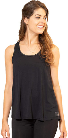 Faceplant Dreams Bamboo Relax Pajama Tank Top - Black