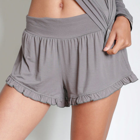 Faceplant Dreams Earl Grey Ruffle Shorts - Medium