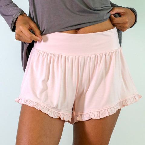 Faceplant Dreams Pink Ruffle Shorts - Medium