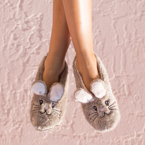 "Faceplant Dreams Slipper Footsies - ""Snuggle Bunny"""