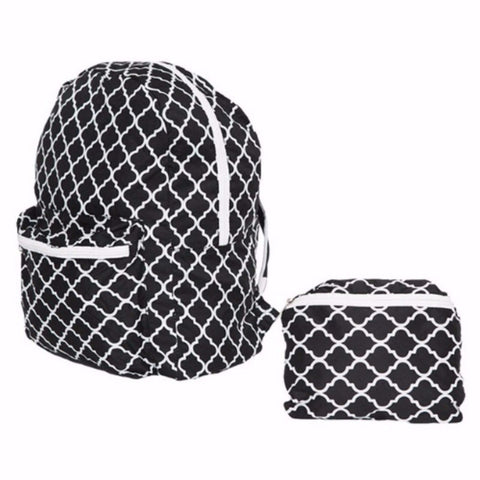 FashionIt Folding Backpack- Christina Black & White