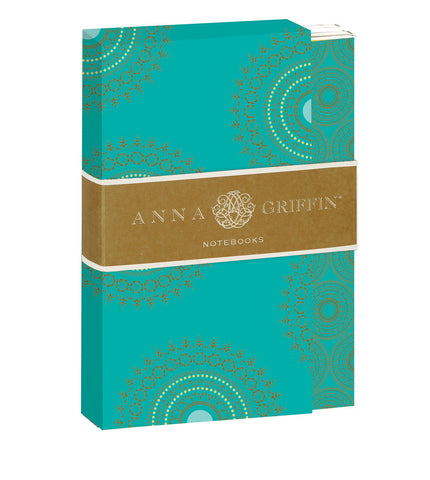 Anna Griffin Turquoise Notebook Set of 4 Notebooks