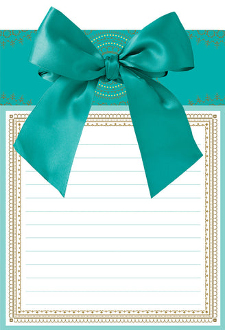Anna Griffin Note Pad With Bow Turquoise