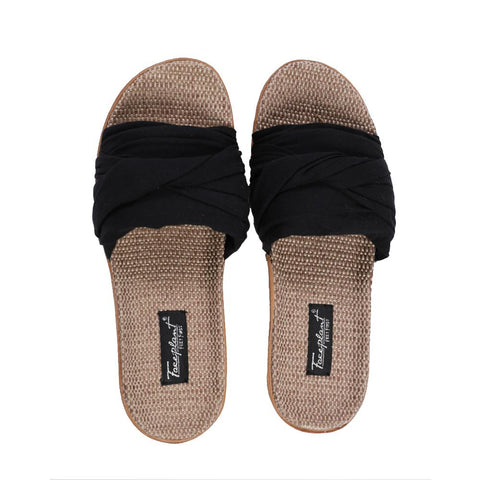 Faceplant Dreams Bamboo Hemp Slides - Black