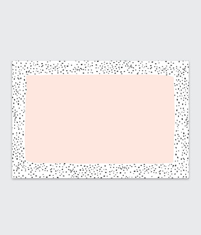 Idlewild Speckled Rose Placemat Pad Set of 48 Sheets