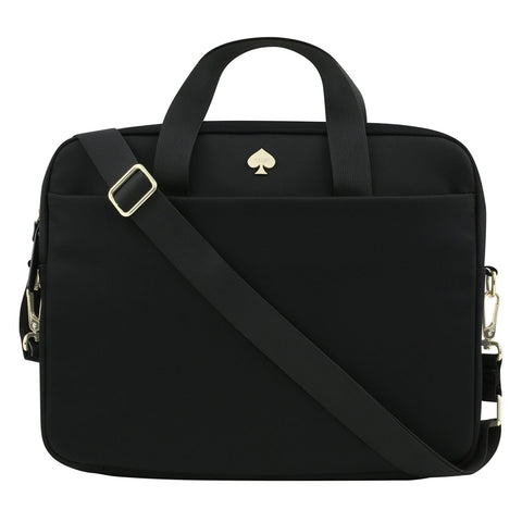 "Kate Spade New York Nylon Laptop Bag [Shock Absorbing] Fits 13 Inch Apple MacBook, 13"" Laptops, and 13"" Tablets - Black"