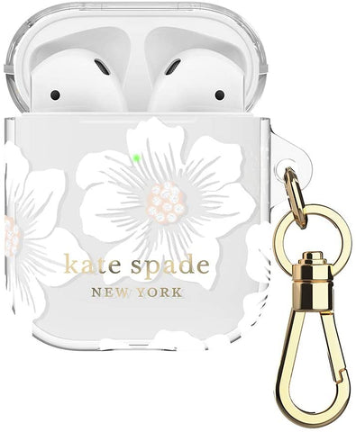 Kate Spade New York Hollyhock Case for AirPods 2 & 1 with Keychain (Front LED Visible)