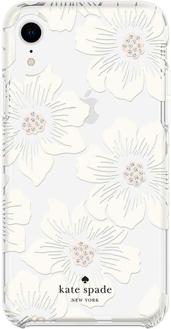 Kate Spade New York Phone Case Compatible with iPhone XR – Hollyhock Clear