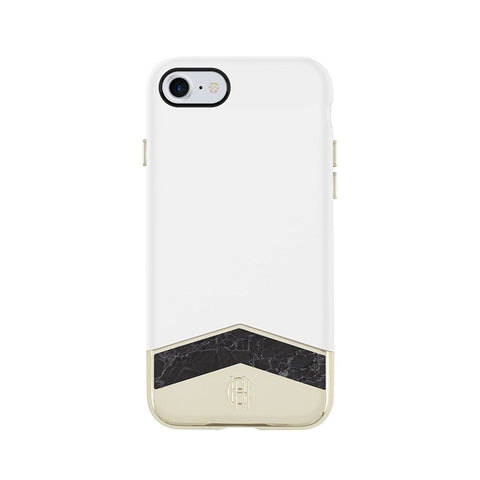 House of Harlow 1960 iPhone 7 Case Slider Case- White/Black Marble