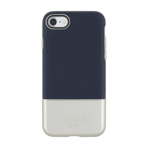 Jack Spade New York iPhone 7 Color Block Metallic/Navy Phone Case