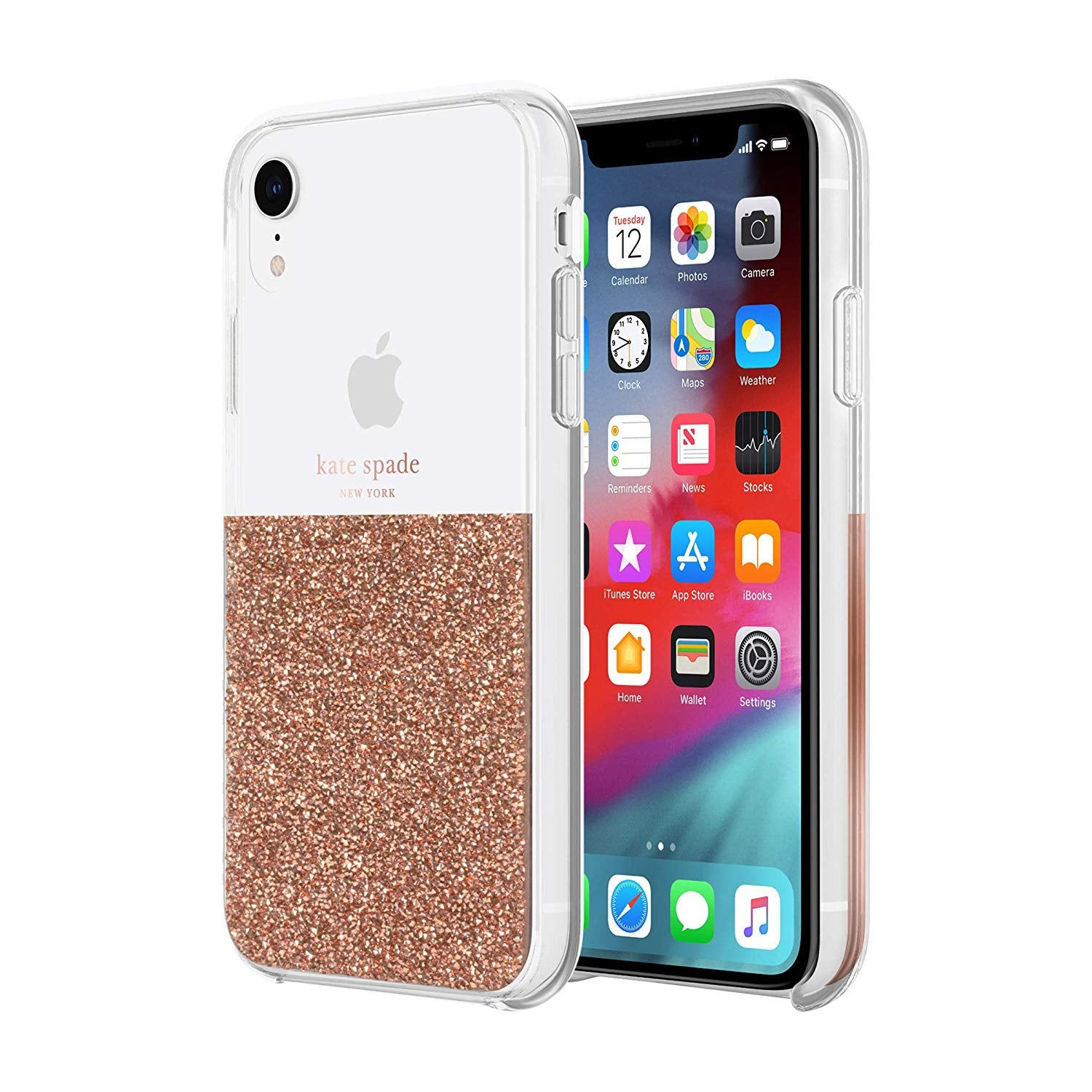 online retailer c6e80 3c23c Kate Spade New York Phone Case Compatible with iPhone XR – Rose Gold