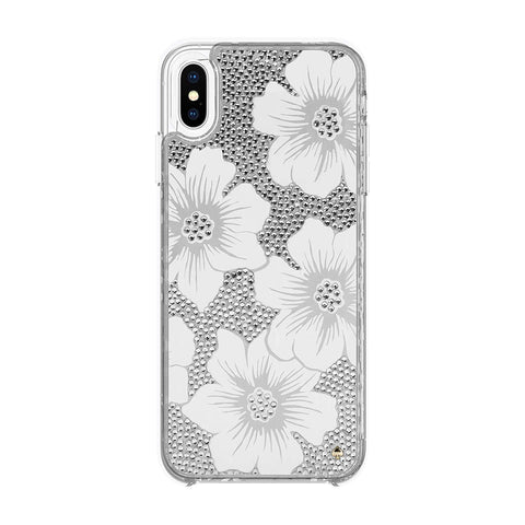 Kate Spade New York Phone Case Compatible with iPhone XS Max - Hollyhock Cream