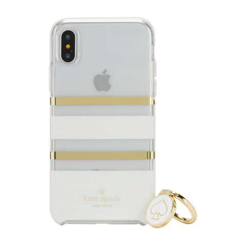 Kate Spade New York iPhone X Gift Set - White Charlotte Stripe