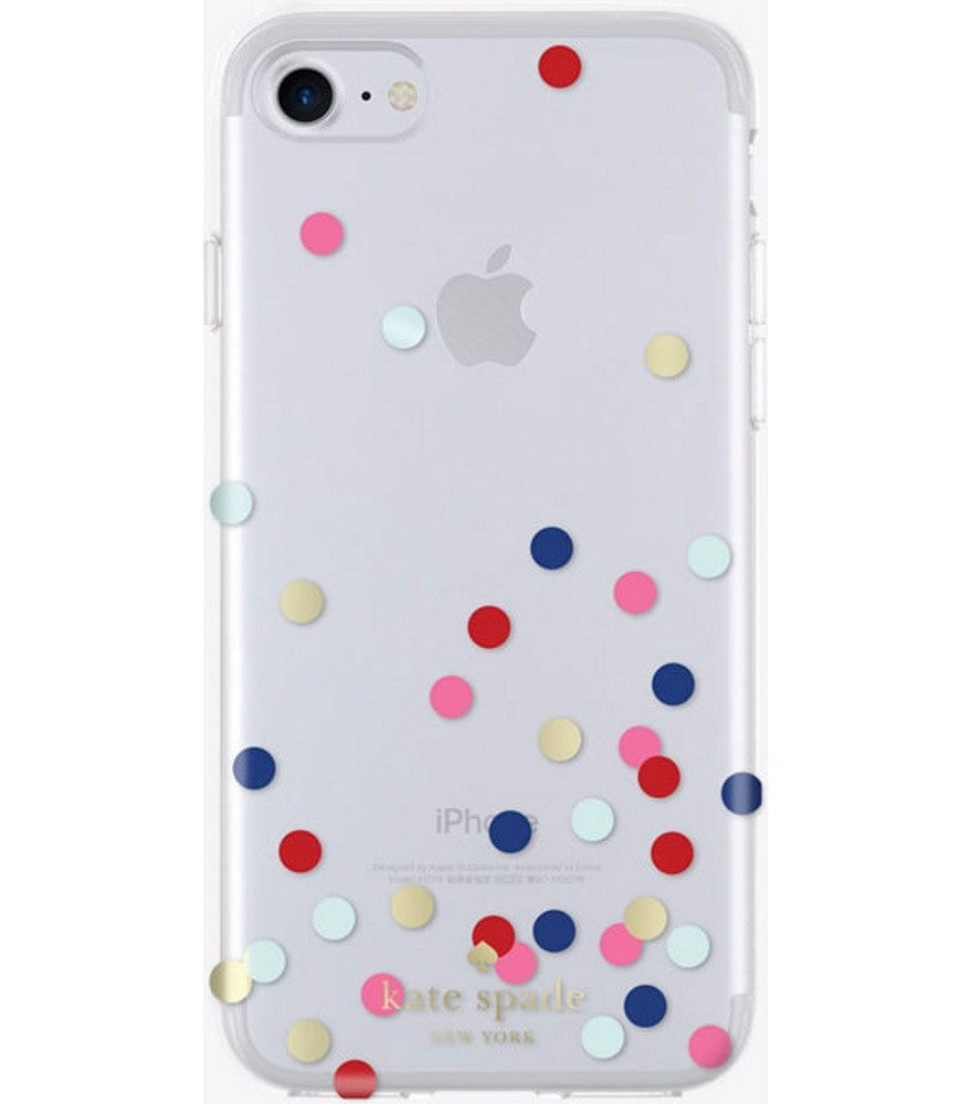 6d8323fa91ea Kate Spade New York Protective Hardshell Clear Case iPhone 7 - Confett –  Timely Buys
