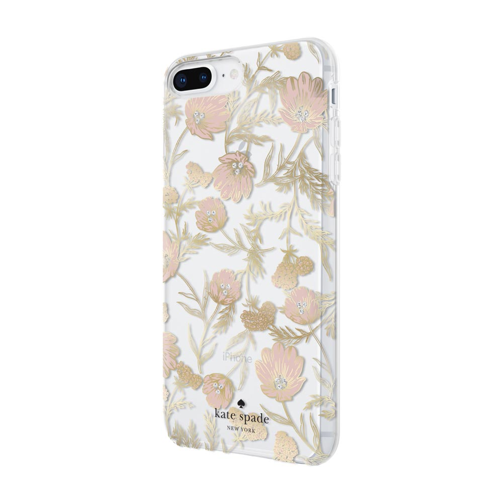 big sale fdd94 bd28a Incipio Kate Spade New York iPhone 8 Plus - Blossom Pink/Gold with Gems