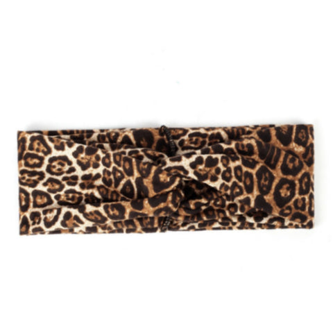 Headbands of Hope Protective Ear Button Headbands for Face Masks - Leopard Print