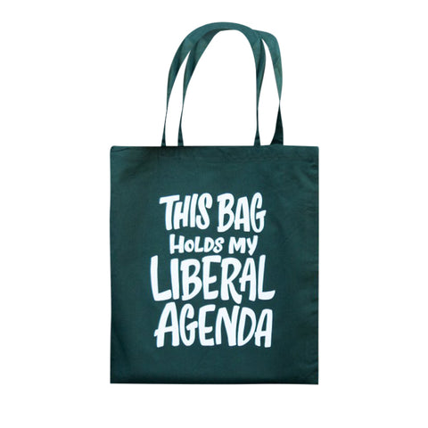 Ladyfingers Letterpress Reusable Cotton Tote Bag - Liberal Agenda