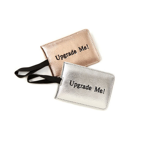Miamica Rose Gold and Silver Metallic 2 Piece Luggage Tag Set- Upgrade Me
