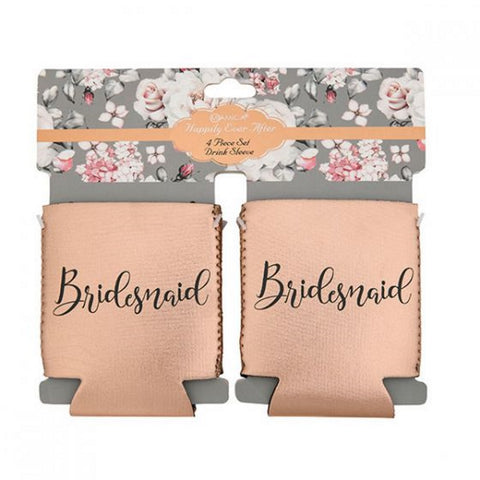 Miamica Bridesmaid Set of Four Cozies - Rose Gold