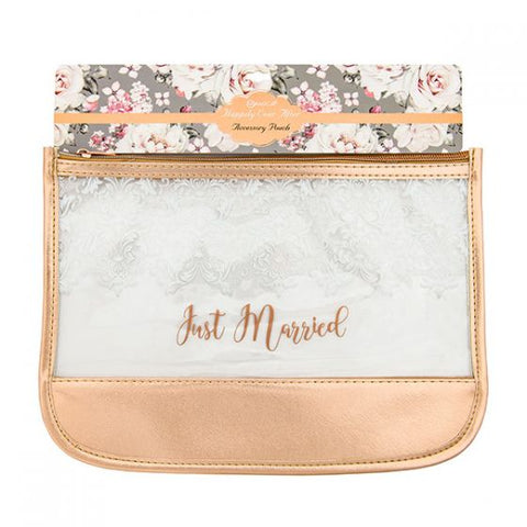 Miamica Rose Gold/Clear Beach Case - Just Married