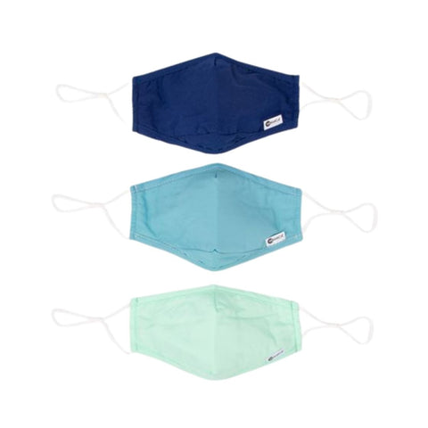 Miamica Set of 3 Fashion Cloth Face Mask - Blue, Mint, Turquoise