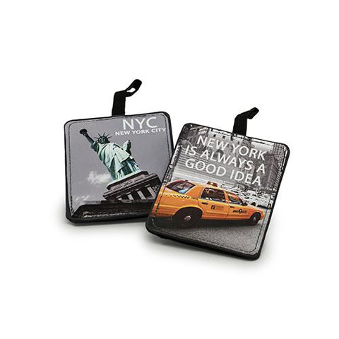 Miamica Grey 2 Piece Luggage Tag Set - NYC