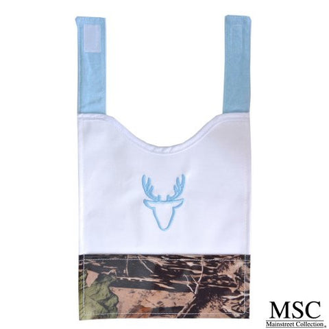 Mainstreet Collection Camo Blue Baby Boy Camoflauge Wipeable Coated Canvas Bib