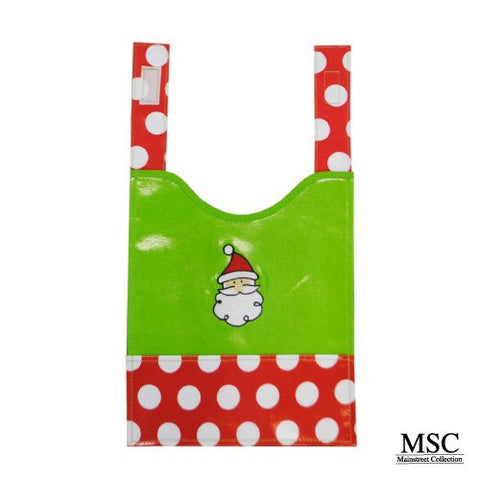 Mainstreet Collection Holiday Chrsitmas Santa Wipeable Coated Canvas Bib