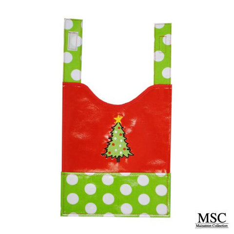 Mainstreet Collection Holiday Christmas Tree Wipeable Coated Canvas Bib