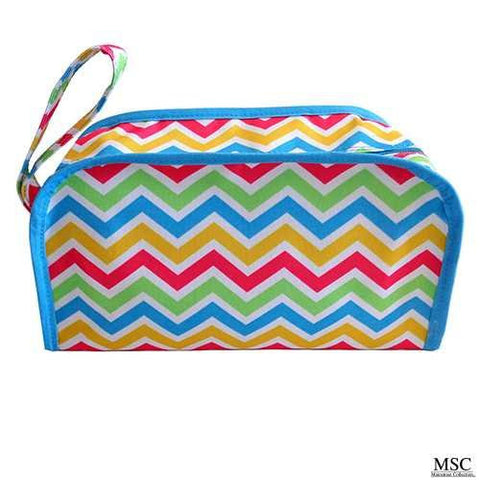 Mainstreet Multi Colored Chevron Kentucky Dopp Kit Toiletries