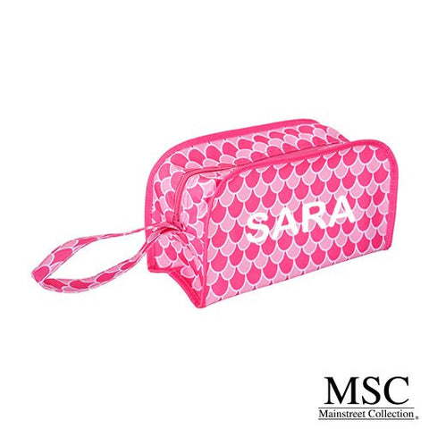Mainstreet Pink Scales Pattern Kentucky Dopp Kit Toiletries