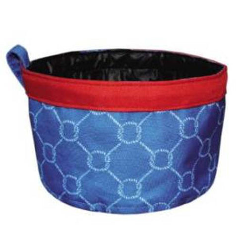 Mainstreet Collection Knots Blue Red Nautical Waterproof Pet Travel Bowl