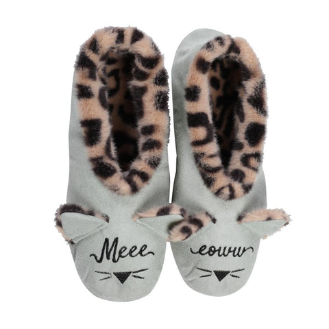 Faceplant Dreams Cat Slipper Footsies - Meow