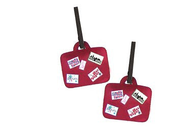 Miamica Luggage Tags 2 Piece Set Suitcase Shape