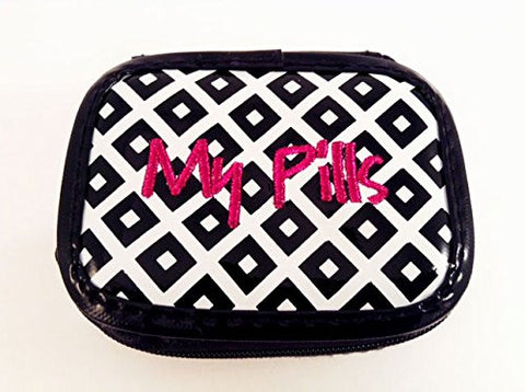Miamica Black White Geo Pill Case- My Pills
