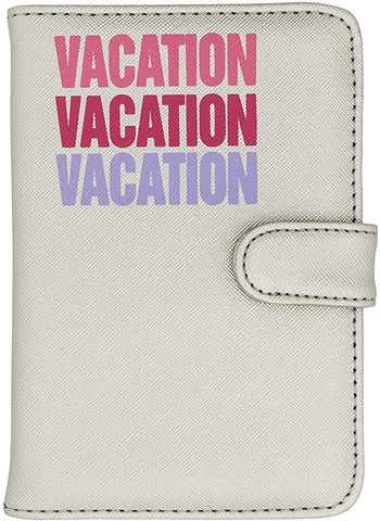 Miamica Silver Passport Case- Vacation