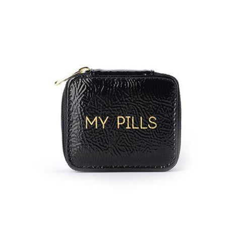 "Miamica Black & Gold ""My Pills"" Pill Case"