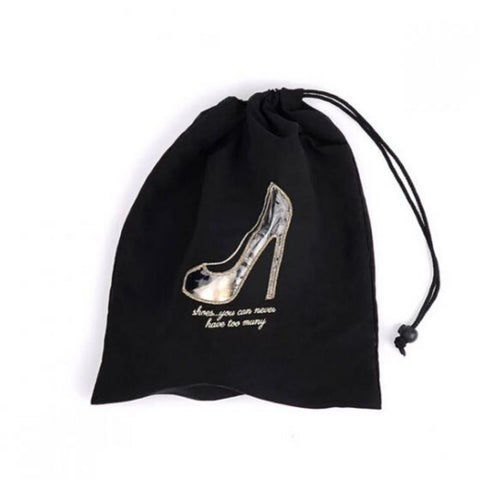 "Miamica Black Clear Window Shoe Bag - ""Shoes... you can never have too many"""