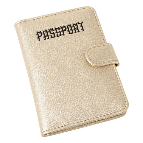 Miamica Passport Case- Gold Saffiano