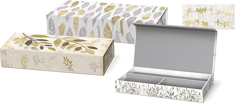 Molly and Rex Botanical Luxe Pencil Boxes - Set of 3