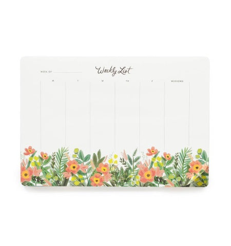 Rifle Paper Co. Weekly Planner Desk Pad Mouse Pad- Honeydew